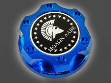 DODGE CHRYSLER VIPER V8 MOLON LABE SPARTAN 300 HEMI BILLET ENGINE OIL CAP BLUE