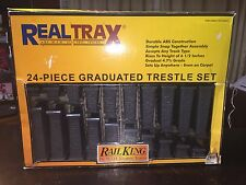 RAIL KING 24 PIECE GRADUATED TRESTLE SET!! Real Trax M.T.H. Electric Trains