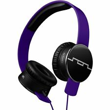Sol Republic V8 HD Tracks Headphones Progressive Purple, 1-Button Mic New in Box