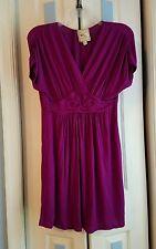 Womens Pink Rose Dress Short Sleeve Size M (8)