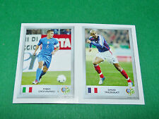 N°72 CANNAVARO 119 TREZEGUET PANINI FOOTBALL GERMANY 2006 MINI-STICKERS