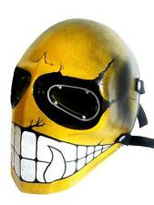 Yellow Smiley Army of Two Paintball Airsoft BB Gun Goggle Face Mask Costume Gear