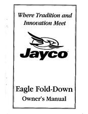 Jayco Fold-Down Pop-Up Tent Trailer Owners Manual- 1998 Eagle