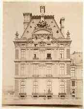 J.D. France, Paris, pavillon Flore  vintage albumen print.  Tirage albuminé