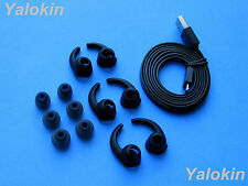 Replacement Accessories Enhanced Set (BK-BSTB-BFLTCB) for Jaybird X2 Headphones