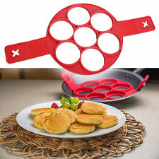Pancake Mold Flippin Non Stick Egg Omelets Silicone Ring Make Tools 7 Cavity New