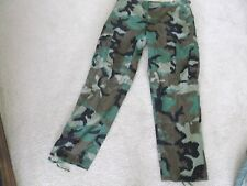 US  ARMY WOODLAND BDU PANTS SIZE MEDIUM-SHORT