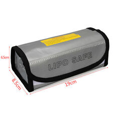 19*8.5*6.5cm Silver LiPo Battery Protector Charging Box Bag Sack Pouch Fireproof