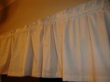 """Primitive Country Muslin Solid Bedroom Kitchen Window Valance Decor 88"""" Wide"""