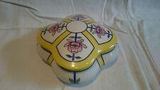 Bonbonnière en porcelaine de Limoge par Paulhat type art déco