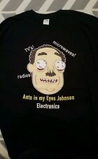 RICK AND MORTY ANTS IN MY EYES JOHNSON BLACK XL T-SHIRT NEW