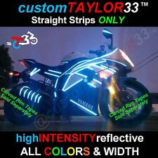 #1 REFLECTIVE Straight Strips Motorcycles Bicycles Cars Helmets Bikes Pinstripes