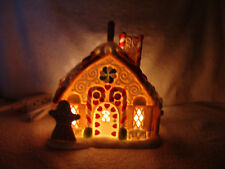 PARTYLITE THE GINGERBREAD COTTAGE HOUSE 1ST SERIES CANDLE HOLDER P7304 W/BOX