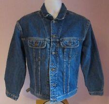 VTG Mens LEE Riders Stonewashed Blue Denim Jacket Size Small  (#A11)