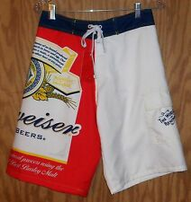 Budweiser Board Shorts men's beer swimming trunks - Size L