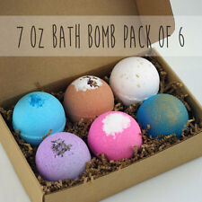 Set of 6 LARGE 7oz Bath Bomb Lot Fizzy Fizzies Lush Luxurious Organic Great Gift