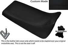 BLACK STITCH CUSTOM FITS YAMAHA BLASTER YFS 200 DUAL LEATHER SEAT COVER