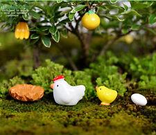 Mini Hen & chicks Figurine Fairy Garden DIY Decor Ornament Micro Landscape 1 set