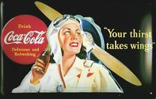 Coca Cola Wings Blechschild Schild Blech Metall Metal Tin Sign 20 x 30 cm