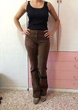 Roberta Scarpa Jeans di velluto con particolari in pizzo
