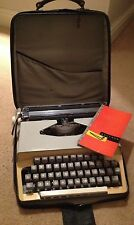 Vintage Portable Typewriter in Original Carry Case 1965 with instruction booklet