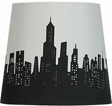Mainstays Cityscape Table Desk Lamp Shade, Black And White City View, Uno Fitter
