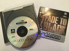 SONY PS1 PLAYSTATION 1 PSone GAME FADE TO BLACK +BOX & INSTRUCTIONS PAL