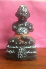 Thai Buddhist Amulet Guman Thong Lp Yam Wat Sam Ynam Real! From Temple Black