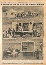 Automobile Ambulance Croix Rouge Hygiène Militaire Etuve Désinfection WWI 1915