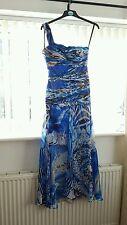 """Señoras """"Aftershock Maxi Vestido Patrón Azul"""" (tamaño S)"""