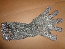 MANULATEX STAINLESS STEEL METAL CHAIN MESH BUTCHERS CUTTING GLOVE SIZE 3 MEDIUM