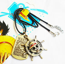 ONE PIECE MONKEY D LUFFY Pirate Flag Metal Cosplay Double Necklace Pendant
