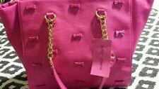 "BETSEY JOHNSON Hot Pink ""Little Bow Chic Tote""/Handbag+Free USA Shipping!!!"