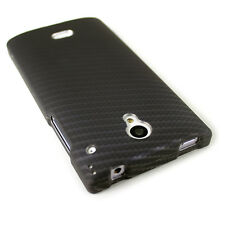 CoverON® For Sharp AQUOS Crystal Case Ultra Slim Snap Cover - Black Carbon Fiber
