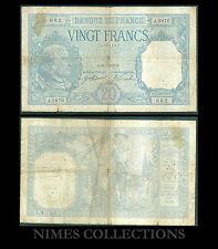 BILLET DE 20 FRANCS BAYARD  DATE 19-9-1917 ETAT:  Pr TB   N° J.2976