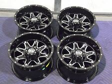 "12"" CAN AM OUTLANDER ALUMINUM ATV WHEELS NEW SET 4 - LIFETIME WARRANTY T4"