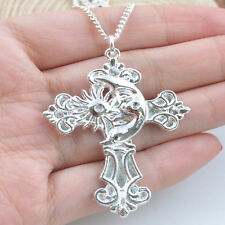 new Jewelry Fashion 925 silver   cross Pendant gift for women N-537