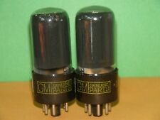 Matched Pair GM 6V6 GT  Vacuum Tubes  Very Strong  4675 4540 µmhos