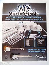 """Affichette FENDER guitare """"VG STRATOCASTER"""""""