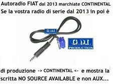 "Cavo Aux In MP3 iPod FIAT PANDA 2013- 2015 display ""NO SOURCE AVAILABLE"" da 1,4M"