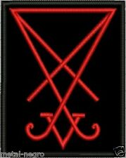 SIGIL SEAL OF LUCIFER EMBROIDER PATCH RED COLOR OCCULT MORNING STAR Metal Negro