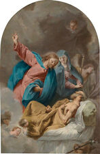 Oil painting portraits Madonna with Christ Child - The Death of St. Paul & angel