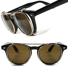 Classic 80s Urban Indie Mens Womens Black Frame Clear Lens Glasses W/ Clip Ons