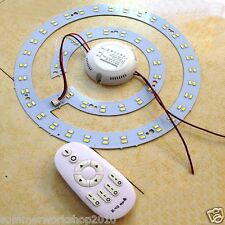 24W Dimmable 5730 SMD LED Panel Circle Annular Ceiling Light Fixtures Board
