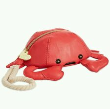 Betsey Johnson Crab Kitchi Wristlet Clutch New With Tags Guava