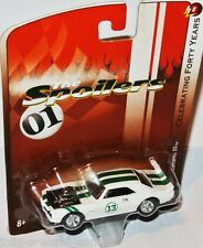 Forty Years R8 - 1967 CHEVY CAMARO - white/green stripes - 1:64 Johnny Lightning