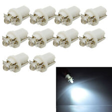 10pcs T5 Car B8.5D LED Speedo Dashboard Dash Wedge Side Light Bulb Lamp White