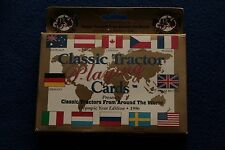 Classic Tractor From Around the World Playing Cards Double Deck Olympic 1996