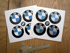 BMW Old Style Plain Roundel Car STICKERS 25mm Set of 4 Motorcycle Race Racing