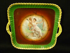 SIGNED VINTAGE CICO GERMANY WOMAN & CHERUB HANDLED TRAY BY HEINRICH & CO.